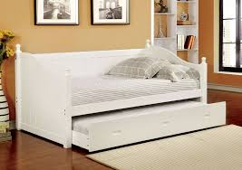 White Wood Daybed With Trundle Wood Daybed Cm1928bk U2013 Furniture Mattress Los Angeles And El Monte