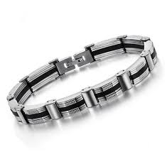 titanium bracelet men images Mens titanium gold bracelet for men fashion jewelry design chain jpg