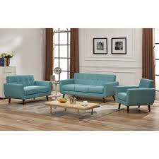 Blue Living Room Sets Youll Love Wayfair - Three piece living room set