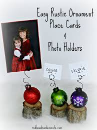 mini tree stump christmas place card holders redhead can decorate