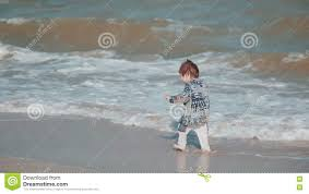 Beautiful Appearance Boy Age 2 Years Old Beautiful Appearance Playing In The Sand On