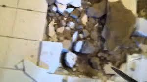 bathroom floor demolition youtube