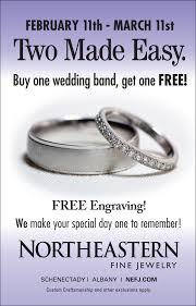 free wedding band new york based northeastern jewelry announce month buy