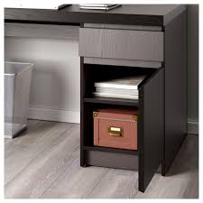 nightstand simple ikea malm nightstand desk black brown floating