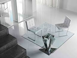 Modern Glass Dining Table Dining Room Glamorous Wood U0026 Glass Dining Table And Chairs Glass