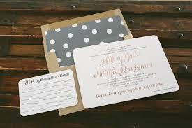 Wedding Invitations Atlanta Rose Gold And Gray Wedding Invitations Bella Figura