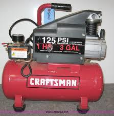 Craftsman 3 Gallon Air Compressor Item 8359 Sold December 4 Manhattan Ks Auction Pur