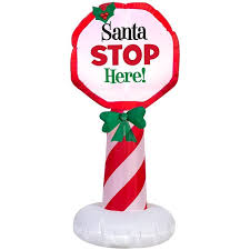 santa land here lighted sign shop christmas inflatables shop gemmy airblown inflatables shop