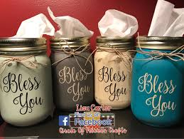 mason jar tissue holder bless you appreciation gifts pinterest
