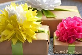 gift wrap with tissue paper gift wrapping with tissue paper flowers