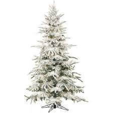 home decor bautiful pre lit flocked tree with classic
