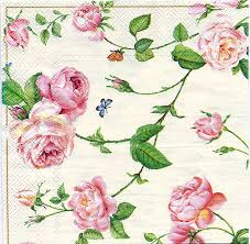 paper napkins decoupage paper napkins of rambling pink roses and a blue