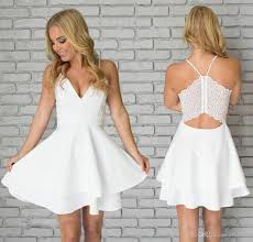 graduation gowns for sale simple lace mini homecoming dress vintage white spaghetti