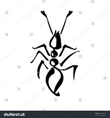 ink hand drawn stylized ant on stock vector 406726738 shutterstock