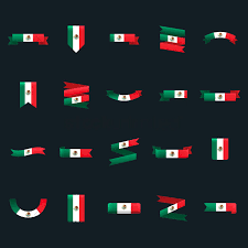 Mexicans Flags Set Of Mexican Flag Banners And Pennants Vector Image 1618736