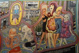 Grayson Perry Vanity Of Small Differences Blood Love And Ladies In Leopard U2013 In Kiev Brought Tapestries