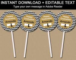 Diy Graduation Centerpieces by 2017 Graduation Cupcake Toppers Printable Graduation Party