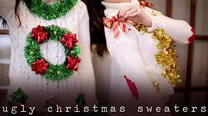 diy ugly u0026 tacky christmas holiday sweaters youtube