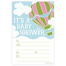 air balloon baby shower invitations fill in