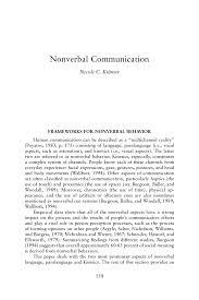 Nonverbal CommunicationNicole C Krämer Human Behavior in
