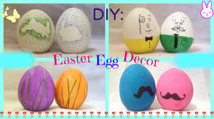 Easter Egg Decorations Diy 4 Easter Egg Decorating Ideas Quick Cute And Easy Youtube