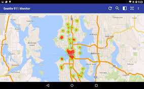 Seattle Police Map Seattle 911 Incidents Monitor Android Apps On Google Play