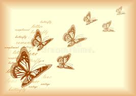 vintage letter paper design with butterflies stock vector