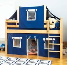 Bunk Bed Tents And Curtains Maxtrix Low Loft Bed With Tent