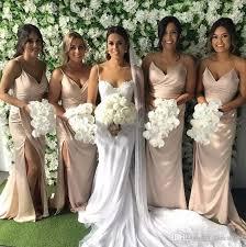 blush pink bridesmaid dresses blush pink bridesmaid dresses 2017 spaghetti straps side