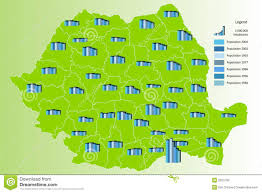 Map Of Romania Population Map Of Romania Stock Photography Image 5253792