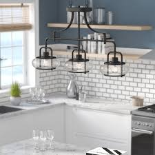 3 light kitchen island pendant beachcrest home braxton 3 light kitchen island pendant reviews