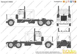 trucking companies with kenworth w900 the blueprints com vector drawing kenworth w900
