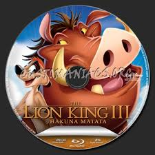 lion king 3 blu ray label dvd covers u0026 labels