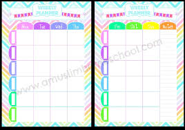 cute daily planner template a muslim homeschool free weekly planner printable for home or school free weekly planner printable