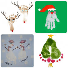 christmas handprint footprint ideas these are so cute fun
