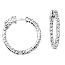 inside out diamond hoop earrings inside out diamond hoop earrings secure lock 1ctw sbt imports