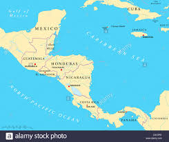 Map Of Usa With Capitals by Political Map Of Central America With Capitals National Borders