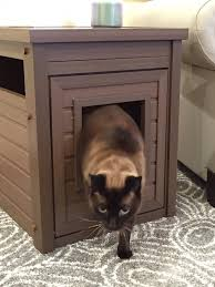 litter box end table hide the litter box with a stylish end table while saving big