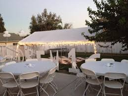 all white party backyard set up sweet 16 all white party
