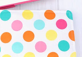 polka dot wrapping paper target on the go organizer diy notebook cover projects