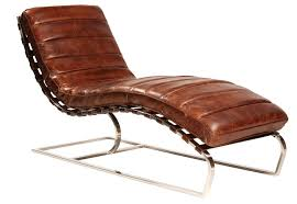 Leather Chaise Lounge Chaise Lounge Finished In Antiqued Distressed Brown Leather
