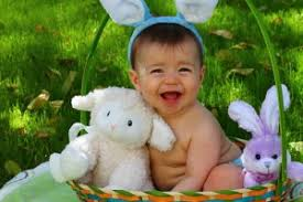 easter pictures with baby 10 babies with easter bunny ears and baskets babycenter