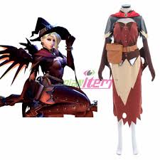 costume witch shoes ow overwatch mercy angela ziegler cosplay costume halloween witch
