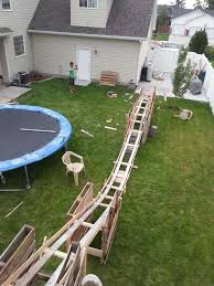 roller coaster for backyard these guys built a roller coaster in their backyard for only 50