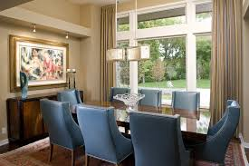 Navy Upholstered Dining Chair Design Chair Dining Room Contemporary With Window Treatment Blue