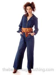 sears jumpsuit vintage womens denim jumpsuit 1970s sears bust 38 the best