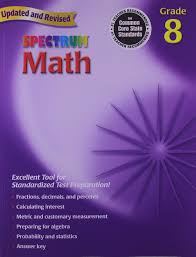 amazon com spectrum math grade 8 workbook 0087577913988
