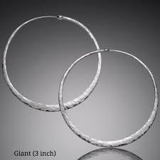 silver hoop earrings handmade hammered silver hoop earrings mostly sweet jewelry