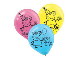 pig balloons peppa pig party supplies sweet pea