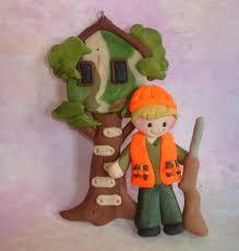 hunter tree stand christmas ornament treehouse shotgun blaze